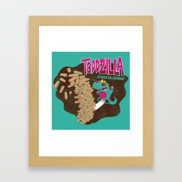 TODDZILLA – ATTACK ON JENGHAI! Framed Art Print
