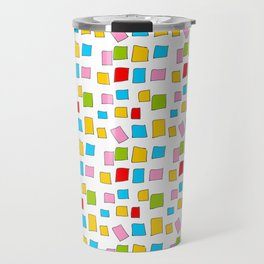rectangle and abstraction 3-mutlicolor,abstraction,abstract,fun,rectangle,square,rectangled,geometri Travel Mug