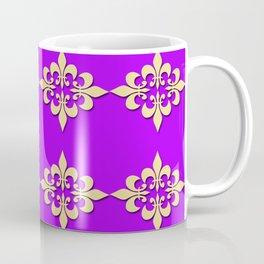 FLEUR DE LIS....PURPLE ,GOLD Coffee Mug