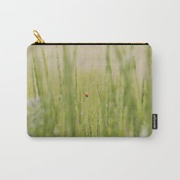 Ladybug in the Grass, Summer Softness with Grain Carry-All Pouch