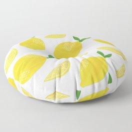 Lemon Cut Out Pattern Floor Pillow