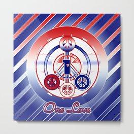 One Love (Patriot) Metal Print