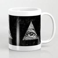 illuminati Mugs featuring Illuminati by Jenny Joleen