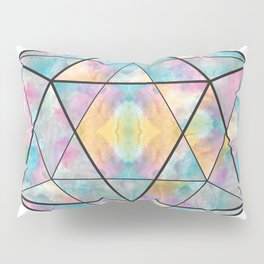 Geometric Icosahedron Watercolor Pillow Sham