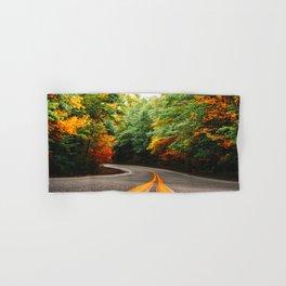 autumn road in new england Hand & Bath Towel