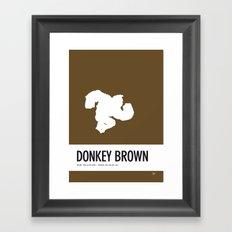 No37 My Minimal Color Code poster Donkey Kong Framed Art Print