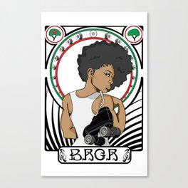 BRGR - Roller Girls Rock Nouveau Canvas Print
