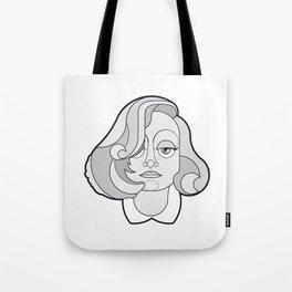 Greta Garbo - B&W Divas Tote Bag