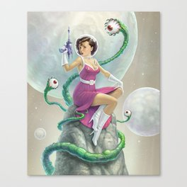 Astro Babe Canvas Print