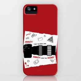 Annoy Tiny Blonde One...  iPhone Case