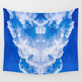 White clouds in the blue sky Wall Tapestry