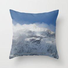 Snowy Peaks Throw Pillow