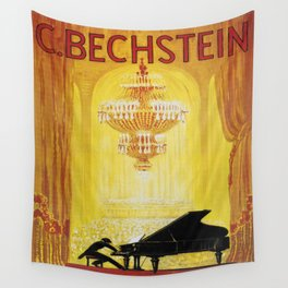 Vintage poster - C. Bechstein Wall Tapestry