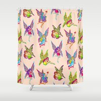 fairies Shower Curtains featuring Fairies by Elizabeth Kate