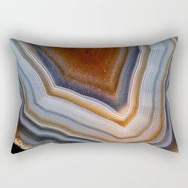Layered agate geode 3163 Rectangular Pillow