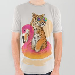 Chillin (Flamingo Tiger) All Over Graphic Tee