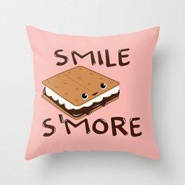 Smile S'more Throw Pillow