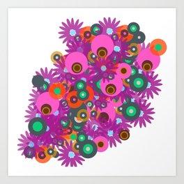flower circles corsage Art Print