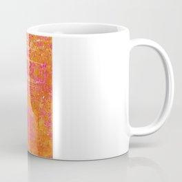 Orange & Hot Pink Abstract Art Collage Coffee Mug