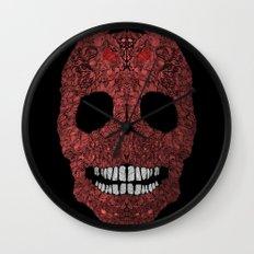 Skull No.8 Chagrin Wall Clock