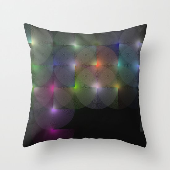 Written Circles #1 society6 custom generation Throw Pillow