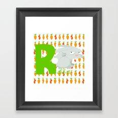 r for rabbit Framed Art Print