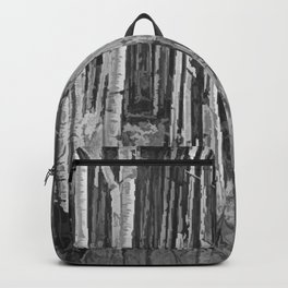 Colorado Autumn Wonder Panorama In Black And White by OLena Art Backpack