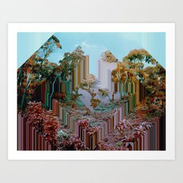 the crystal forest Art Print