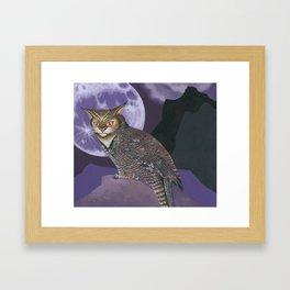 The Great Horned...What? Framed Art Print