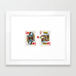 The King knows what the heart wants. Framed Art Print