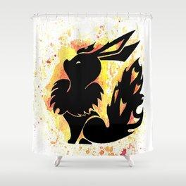 Flareon Splash Silhouette Shower Curtain