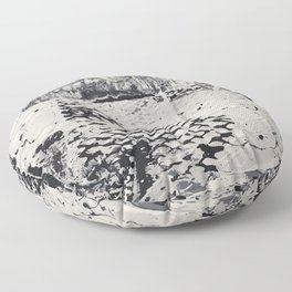 Abstract Black and White Texture Art Floor Pillow