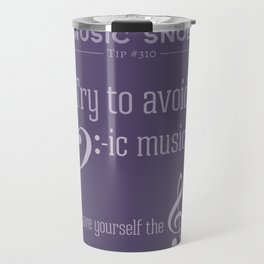 Bass-ic Music — Music Snob Tip #310 Travel Mug