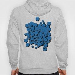 3D Cobalt blue Cubes Hoody