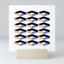 Retro Geometric Abstract Repeat Pattern Mini Art Print