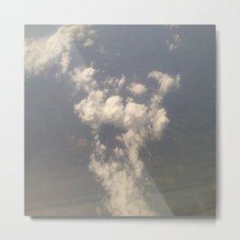 Cheetah Cloud Metal Print