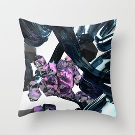 Gel and Stones Throw Pillow