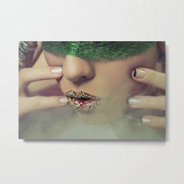 Smoke & Fishnets Metal Print