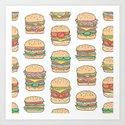 Hamburgers Junk Food Fast food on White by caja
