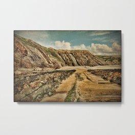 Cornish Coast Metal Print
