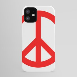 Peace (Red & White) iPhone Case