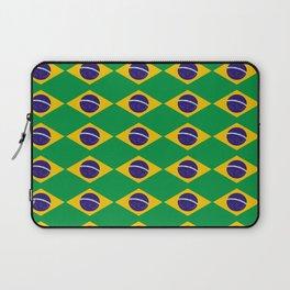 flag of brazil 2-Brazil, flag, flag of brazil, brazilian, bresil, bresilien, Brasil, Rio, Sao Paulo Laptop Sleeve