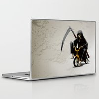 death Laptop & iPad Skins featuring Death by Antracit