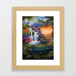 The first step Framed Art Print