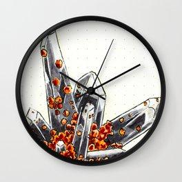 Smoky quartz and spessartine garnet Wall Clock
