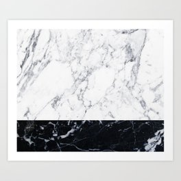 Marble Black & White Art Print