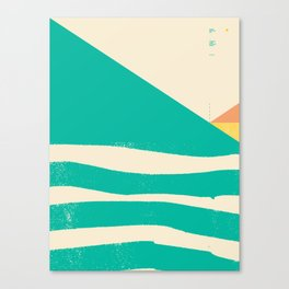 Secret Surf Map 002 — Matthew Korbel-Bowers Canvas Print