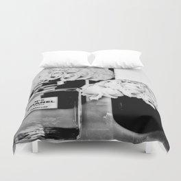CHANELNo. 5 Black and White Duvet Cover