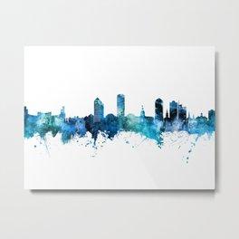 Tallahassee Florida Skyline Metal Print