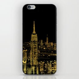 Abstract Gold City  Skyline Design iPhone Skin